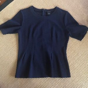 Ann Taylor Factory Navy Textured blouse